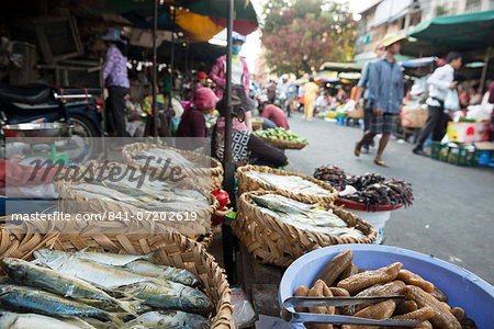 Food market, Phnom Penh, Cambodia, Indochina, Southeast Asia, Asia Stock Photo - Rights-Managed, Image code: 841-07202619