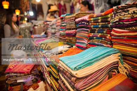 Night market, Siem Reap City, Cambodia, Indochina, Southeast Asia, Asia Stock Photo - Rights-Managed, Image code: 841-07202635