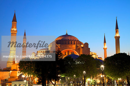 Hagia Sophia (Aya Sofya Mosque) (The Church of Holy Wisdom), UNESCO World Heritage Site, Istanbul, Turkey, Europe Stock Photo - Rights-Managed, Image code: 841-07204375