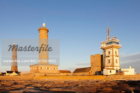 Phare d'Eckmuehl (Eckmuhl Lighthouse), Penmarc'h, Finistere, Brittany, France, Europe Stock Photo - Rights-Managed, Image code: 841-07204551