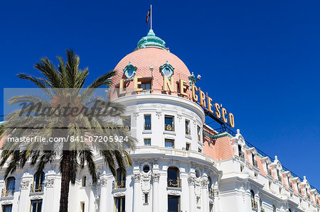 Hotel Negresco, Promenade des Anglais, Nice, Alpes Maritimes, Provence, Cote d'Azur, French Riviera, France, Europe Stock Photo - Rights-Managed, Image code: 841-07205924