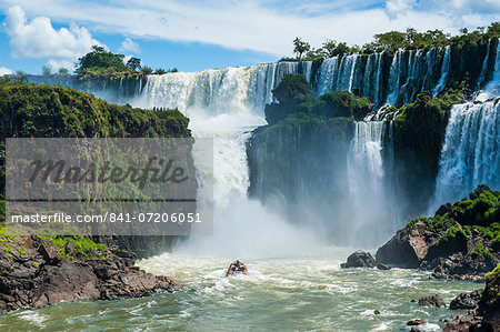 Foz de Iguazu (Iguacu Falls), Iguazu National Park, UNESCO World Heritage Site, Argentina, South America Stock Photo - Rights-Managed, Image code: 841-07206051