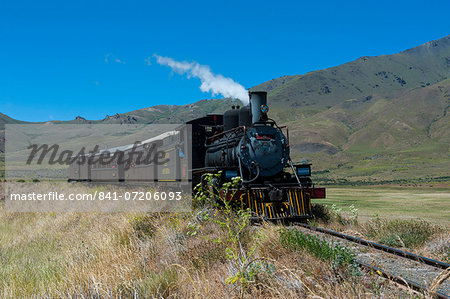 La Trochita, the Old Patagonian Express between Esquel and El Maiten in Chubut Province, Patagonia, Argentina, South America Stock Photo - Rights-Managed, Image code: 841-07206093
