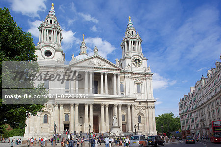 View of St. Paul's Cathedral, London, England, United Kingdom, Europe Stock Photo - Rights-Managed, Image code: 841-07206360