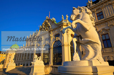 Belvedere, UNESCO World Heritage Site, Vienna, Austria, Europe Stock Photo - Rights-Managed, Image code: 841-07457094