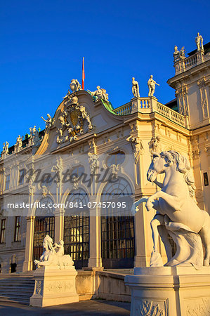 Belvedere, UNESCO World Heritage Site, Vienna, Austria, Europe Stock Photo - Rights-Managed, Image code: 841-07457095