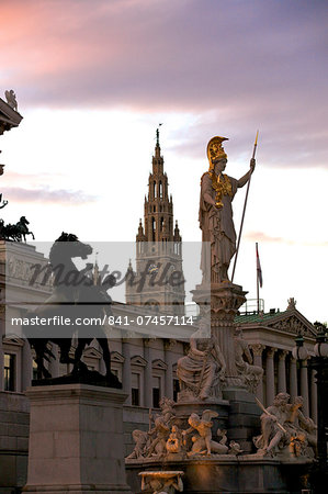 Austrian Parliament Building and Vienna City Hall, Vienna, Austria, Europe Stock Photo - Rights-Managed, Image code: 841-07457114