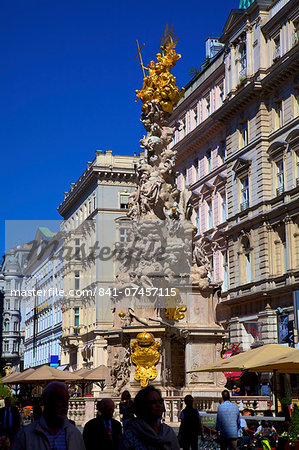 Plague Column, Graben, Vienna, Austria, Europe Stock Photo - Rights-Managed, Image code: 841-07457115
