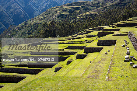 Inca terracing, Chinchero, Peru, South America Stock Photo - Rights-Managed, Image code: 841-07457313