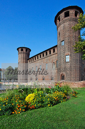The 15th century rear elevation of Palazzo Madama in Turin, Piedmont, Italy, Europe Stock Photo - Rights-Managed, Image code: 841-07457807