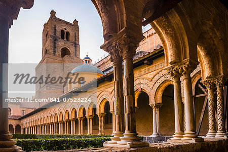 Duomo di Monreale (Monreale Cathedral), Monreale, near Palermo, Sicily, Italy, Europe Stock Photo - Rights-Managed, Image code: 841-07523224
