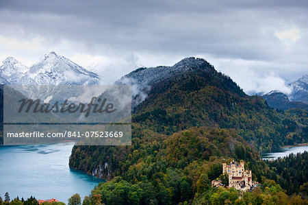 Schloss Hohenschwangau castle in the Bavarian Alps, Germany Stock Photo - Rights-Managed, Image code: 841-07523669