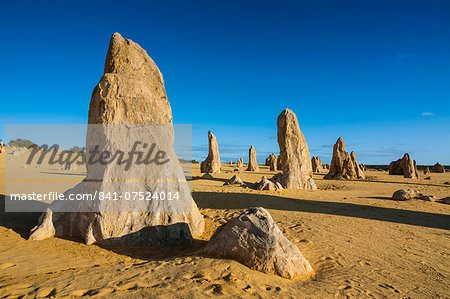 The Pinnacles limestone formations at sunset in Nambung National Park, Western Australia, Australia, Pacific Stock Photo - Rights-Managed, Image code: 841-07524014