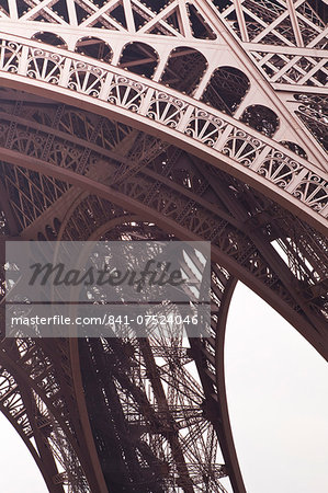 Abstract of the Eiffel Tower in Paris, France, Europe Stock Photo - Rights-Managed, Image code: 841-07524046