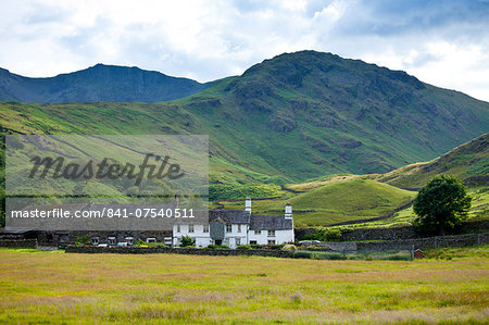 Fell Foot Farm in Little Langdale Valley at Langdale Pass surrounded by Langdale Pikes in the Lake District National Park, Cumbria, UK Stock Photo - Rights-Managed, Image code: 841-07540511