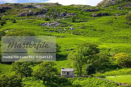 Stone cottage in Hard Knott Pass near Eskdale in the Lake District National Park, Cumbria, UK Stock Photo - Rights-Managed, Image code: 841-07540523