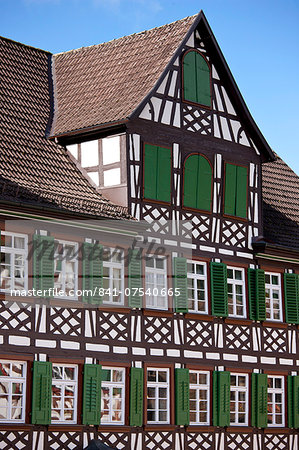 Timber-framed Guesthouse Sonne in Schiltach in the Bavarian Alps, Germany Stock Photo - Rights-Managed, Image code: 841-07540665