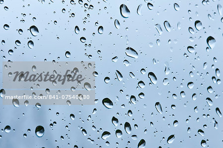 Raindrops on glass Stock Photo - Rights-Managed, Image code: 841-07540680