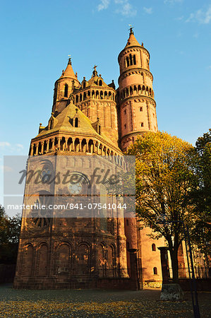 Cathedral in Worms, Rhineland-Palatinate, Germany, Europe Stock Photo - Rights-Managed, Image code: 841-07541044