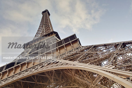 The Eiffel Tower towers overhead, Paris, France, Europe Stock Photo - Rights-Managed, Image code: 841-07541160