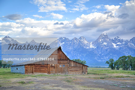 T. A. Moulton Homestead, barn, Mormon Row, Grand Teton National Park, United States of America, North America Stock Photo - Rights-Managed, Image code: 841-07913904