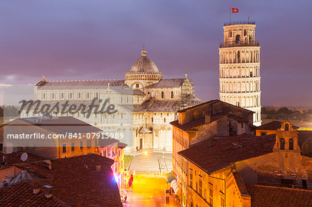 The Duomo di Pisa and the Leaning Tower, Piazza dei Miracoli, UNESCO World Heritage Site, Pisa, Tuscany, Italy, Europe Stock Photo - Rights-Managed, Image code: 841-07913989
