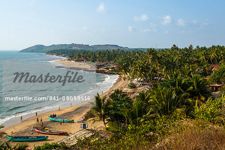 View over Anjuna beach, Goa, India, Asia Stock Photo - Rights-Managed, Image code: 841-08059516
