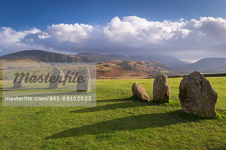 Magalithic standing stones forming part of Castlerigg Stone Circle in the Lake District National Park, Cumbria, England, United Kingdom, Europe Stock Photo - Rights-Managed, Image code: 841-08102023