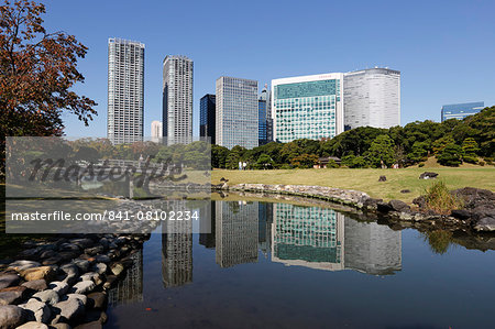 Hamarikyu Gardens, Chuo, Tokyo, Japan, Asia Stock Photo - Rights-Managed, Image code: 841-08102234
