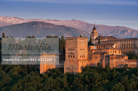 Alhambra, UNESCO World Heritage Site, Granada, province of Granada, Andalucia, Spain, Europe Stock Photo - Rights-Managed, Image code: 841-08211670