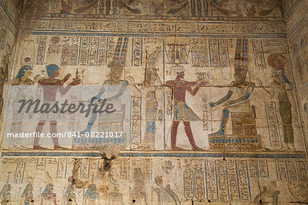 Bas-reliefs inside the Temple of Opet, Karnak Temple, Luxor, Thebes, UNESCO World Heritage Site, Egypt, North Africa, Africa Stock Photo - Rights-Managed, Image code: 841-08221017
