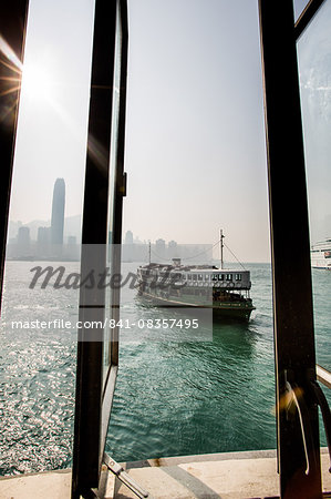 Star Ferry with Hong Kong in the background, Hong Kong, China, Asia Stock Photo - Rights-Managed, Image code: 841-08357495
