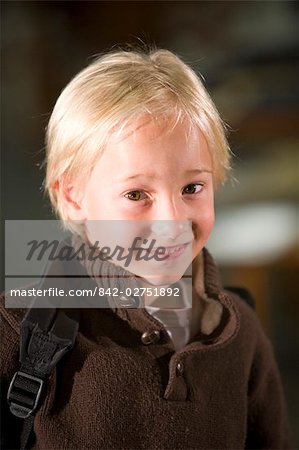 Portrait of elementary school boy, smiling Stock Photo - Rights-Managed, Image code: 842-02751892