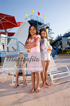 Girls at water park in summer Stock Photo - Rights-Managed, Image code: 842-03200290