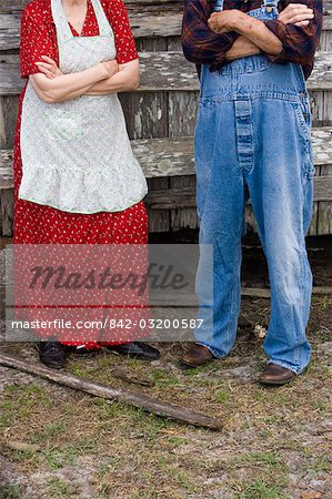 Cropped portrait of senior couple standing outdoors Stock Photo - Rights-Managed, Image code: 842-03200587