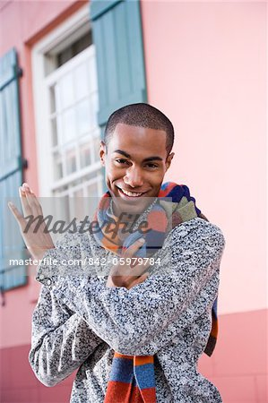 Handsome stylish young African-American man Stock Photo - Rights-Managed, Image code: 842-05979784