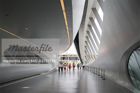 Bridge Pavilion, Expo Zaragoza 2008, Zaragoza. Architect: Zaha Hadid Architects. Stock Photo - Rights-Managed, Image code: 845-02727734