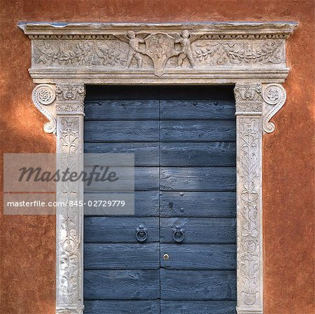 Doorway in Thiene, The Veneto. Stock Photo - Rights-Managed, Image code: 845-02729779