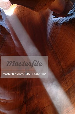 Abstract detail with beam of light, Antelope Canyon, near Page, Arizona