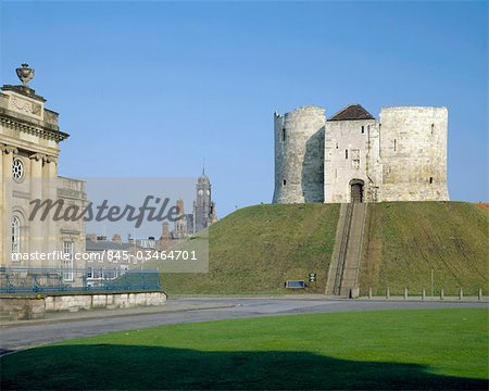 Clifford's Tower York.View from south east. Stock Photo - Rights-Managed, Image code: 845-03464701