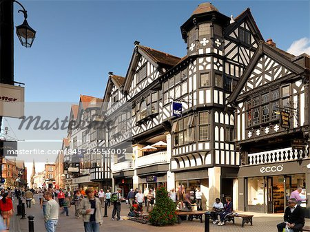Northgate and Eastgate Row, Chester Stock Photo - Rights-Managed, Image code: 845-03553002