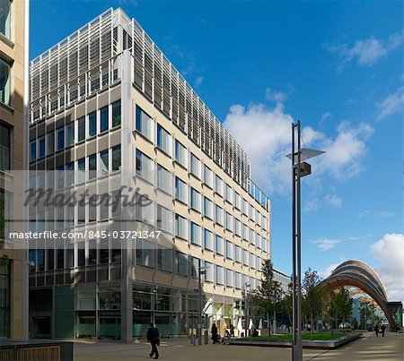 1 St Paul's Place, City centre offices, Sheffield. General view. Architects: Allies and Morrison Stock Photo - Rights-Managed, Image code: 845-03721347