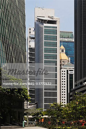 The Singapore Exchange Centre, built in 2000 and 2001. Architects: Kohn Pedersen Fox Associates and Architects 61 Stock Photo - Rights-Managed, Image code: 845-03777632