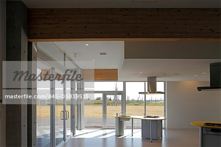 Kana Garden, Botanical garden, Interior view of the kitchen. Architects: A. Kuryu Architect and Associates Stock Photo - Rights-Managed, Image code: 845-05839515