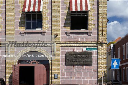 Brick and stone building exterior, Grenada, West Indies. Stock Photo - Rights-Managed, Image code: 845-06008091