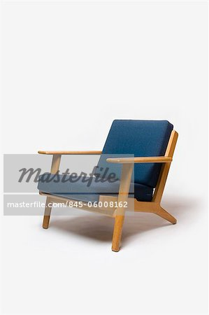 GE-290 Armchair, Danish, 1960s, manufactured by Getama. Designer: Hans J Wegner Stock Photo - Rights-Managed, Image code: 845-06008162