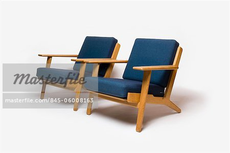 GE-290 Armchair, Danish, 1960s, manufactured by Getama. Designer: Hans J Wegner Stock Photo - Rights-Managed, Image code: 845-06008163