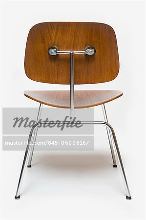 Dining Chair Metal aka DCM, American, 1950s, manufactured by Herman Miller. Designer: Charles and Ray Eames Stock Photo - Rights-Managed, Image code: 845-06008167