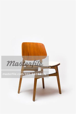Chair, Danish, 1950s, manufactured by Fredericia Mobefabric. Designer: Borge Mogensen Stock Photo - Rights-Managed, Image code: 845-06008171