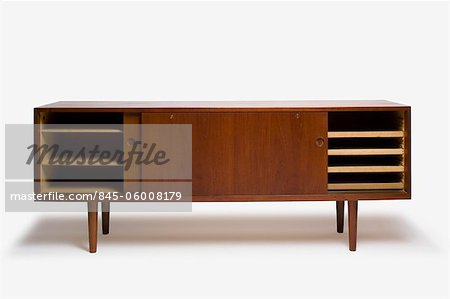 RY-26 Teak Cabinet, Danish, manufactured by RY Mobler. Designer: Hans J Wegner Stock Photo - Rights-Managed, Image code: 845-06008179